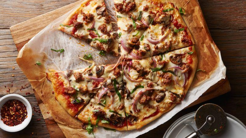 Sausage Mushroom Pizza