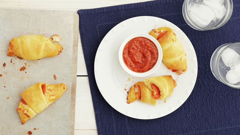 Pepperoni Pizza Crescent Rolls for Two