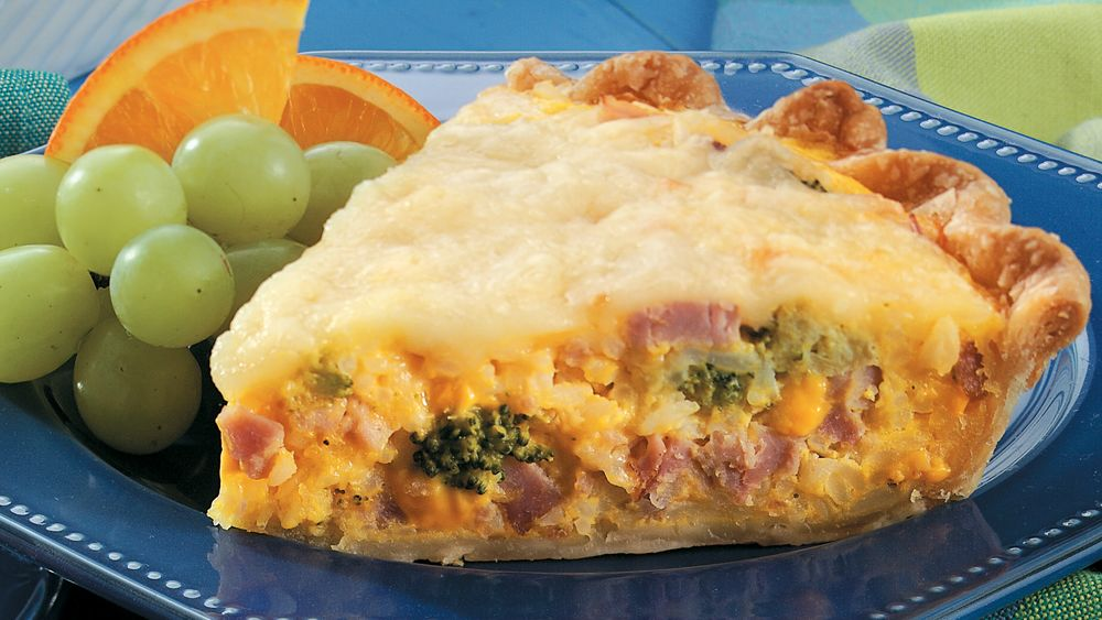 Ham, Broccoli and Rice Pie