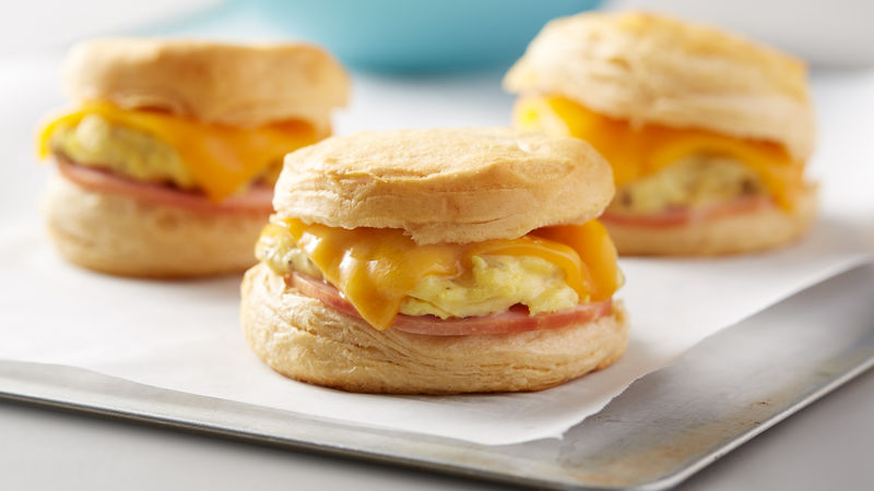 Sweet Hawaiian Biscuit Breakfast Sandwiches
