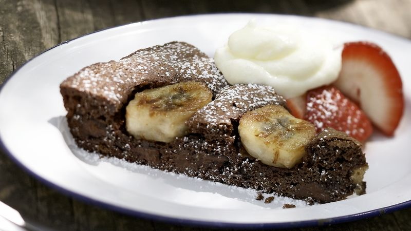 Skinny  Banana Brownie Skillet