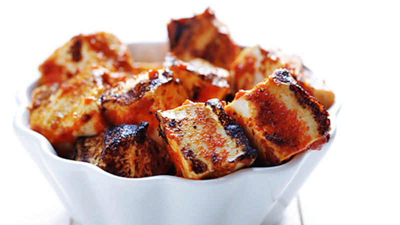 Spicy Sriracha Grilled Tofu