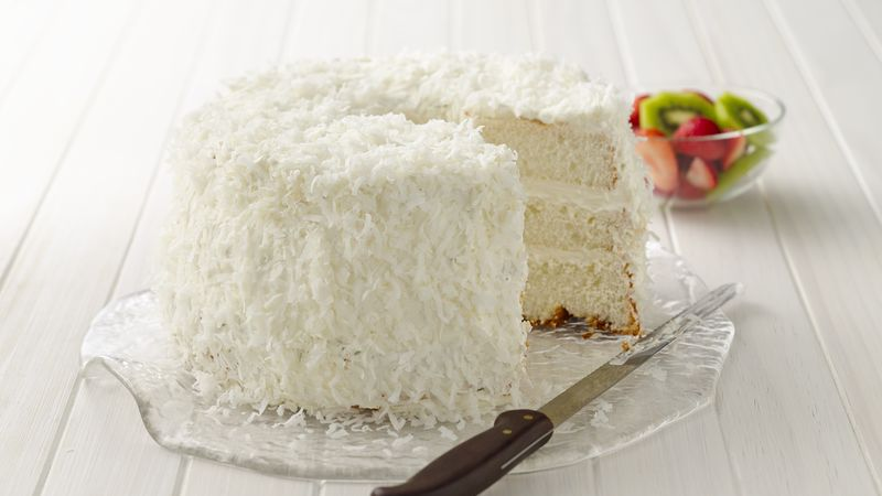 Key Lime Coconut Angel Cake Recipe Tablespoon Com