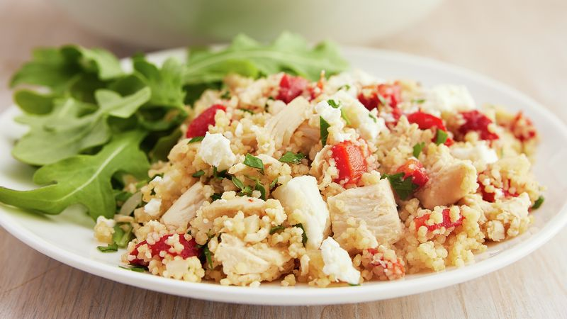 Chicken with Roasted Peppers and Couscous