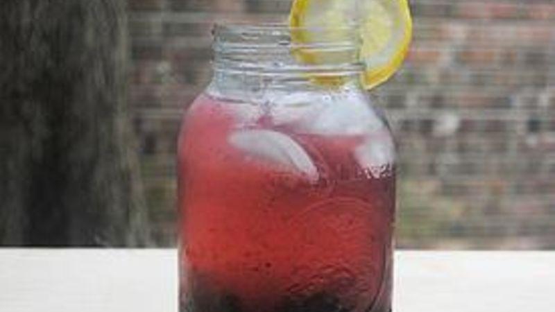 Black and Blue Infused Vodka Cocktail