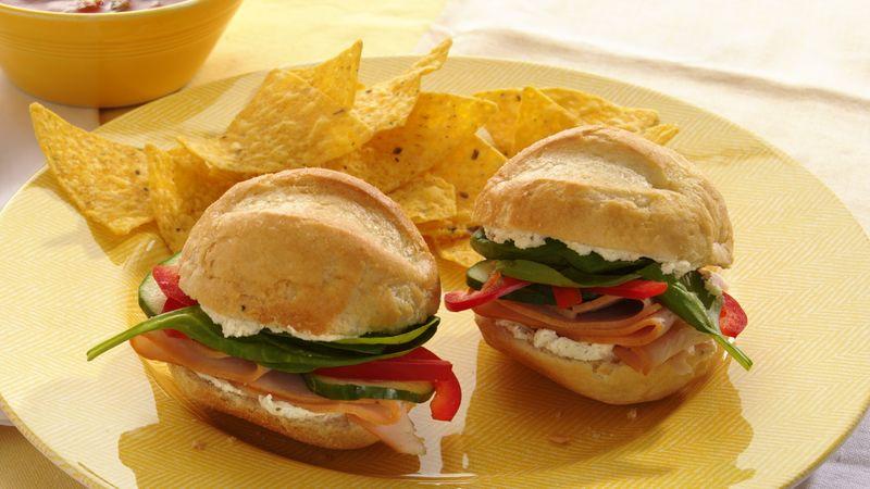 Turkey and Spinach Sandwiches