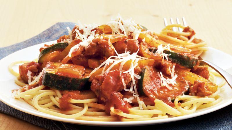 Sausage and Veggie Spaghetti
