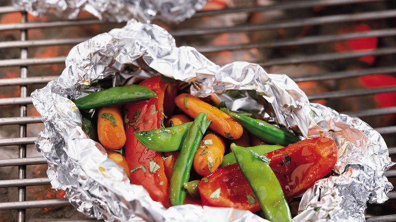 Teriyaki Summer Vegetable Foil Packs