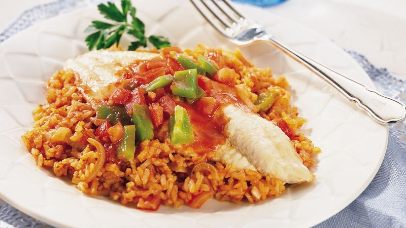 Fish fillet casserole recipe for Summer fish and rice