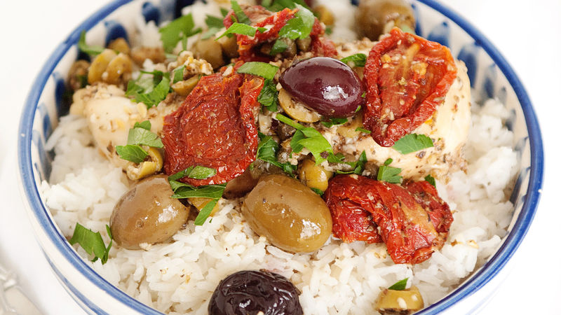 Mediterranean Chicken with Mixed Olives