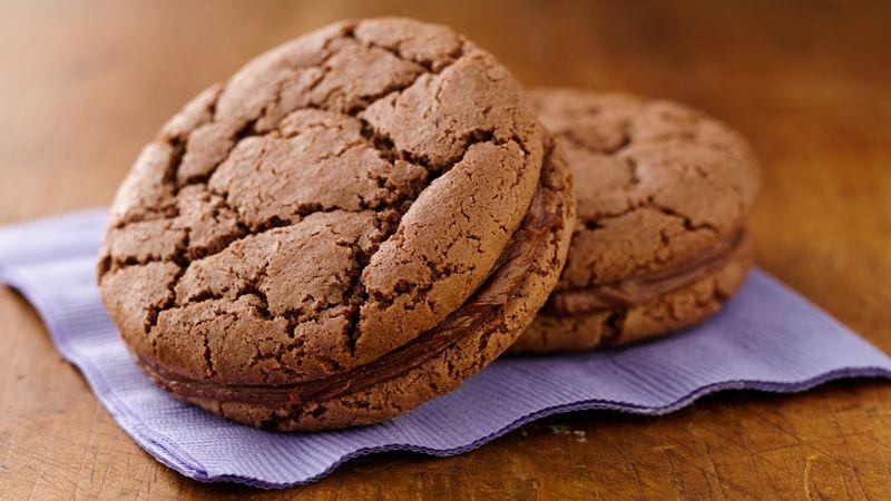 Cocoa Crinkle Sandwich Cookies
