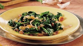 Greens with Garlic and Raisins (Saag)