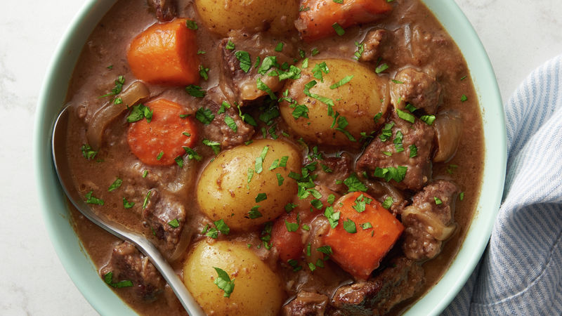 Slow Cooker Irish Stout Beef Stew Recipe Bettycrocker Com