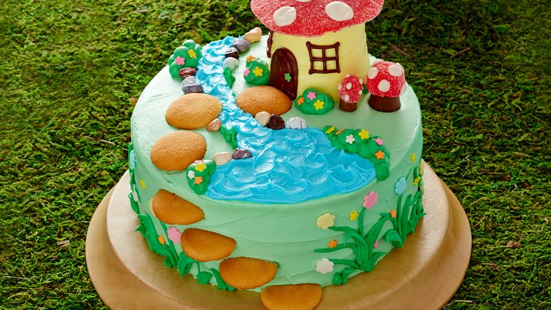 Strange Fairy Garden Cake Recipe Bettycrocker Com Personalised Birthday Cards Sponlily Jamesorg