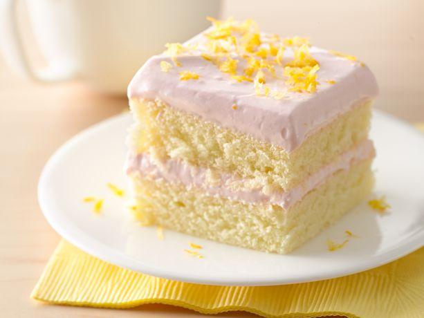 strawberry lemon mousse layered cake