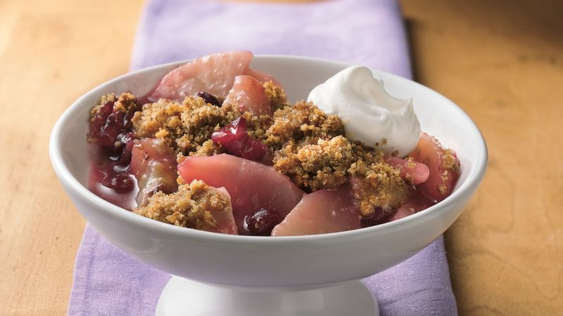 Roasted Almond Cranberry Pear Crisp