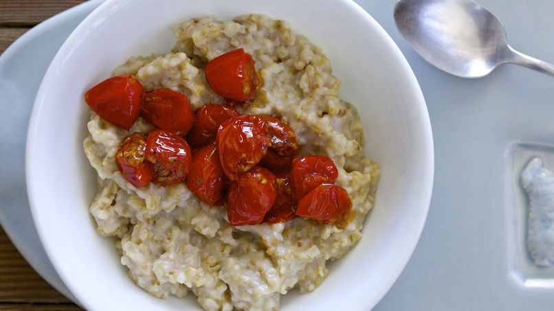 Blistered Tomato Savory Oatmeal