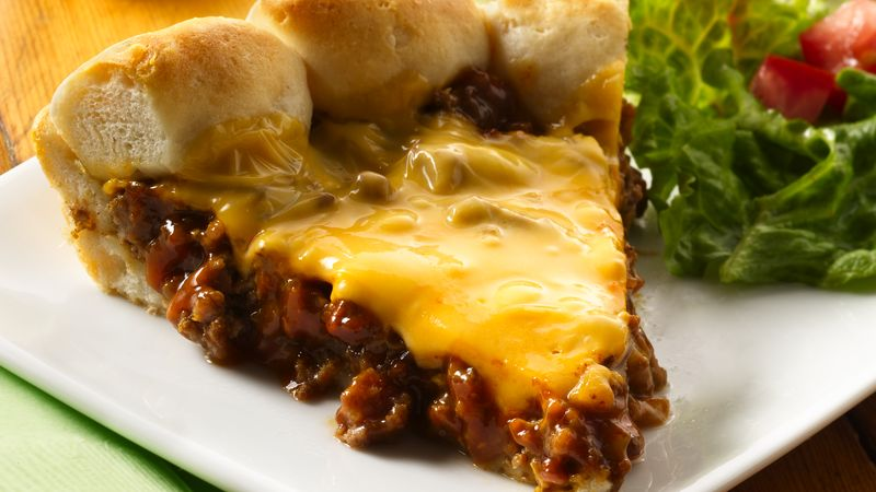 Cheeseburger Biscuit Pie