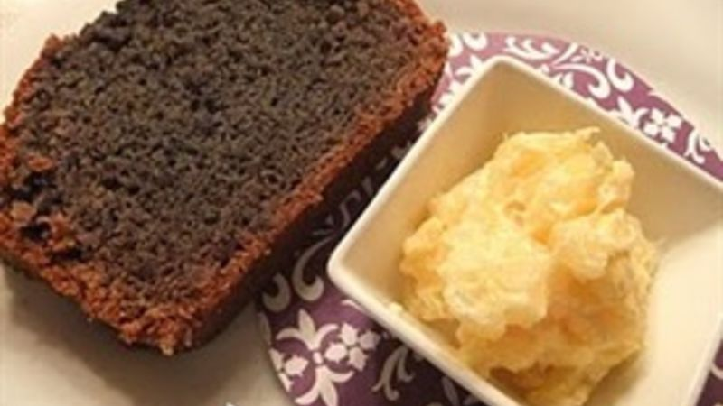 Purple Sweet Potato Bread with Pineapple Butter