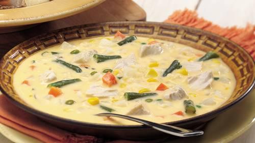 Cheesy Chicken-Vegetable Chowder image