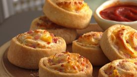 Canadian Bacon-Pineapple Pinwheels