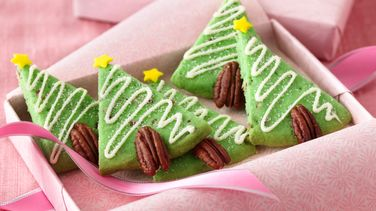 Pecan-Shortbread Trees