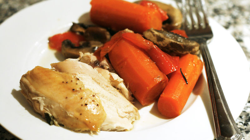 Slow-Cooker White Wine and Herb Chicken