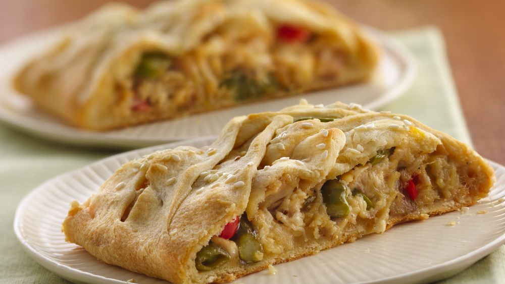 Chicken Primavera Crescent Braid