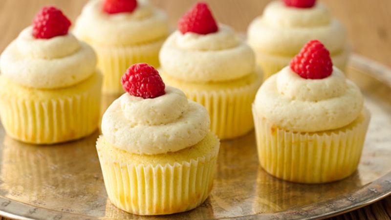 Vanilla Bean Cupcakes with Vanilla Frosting