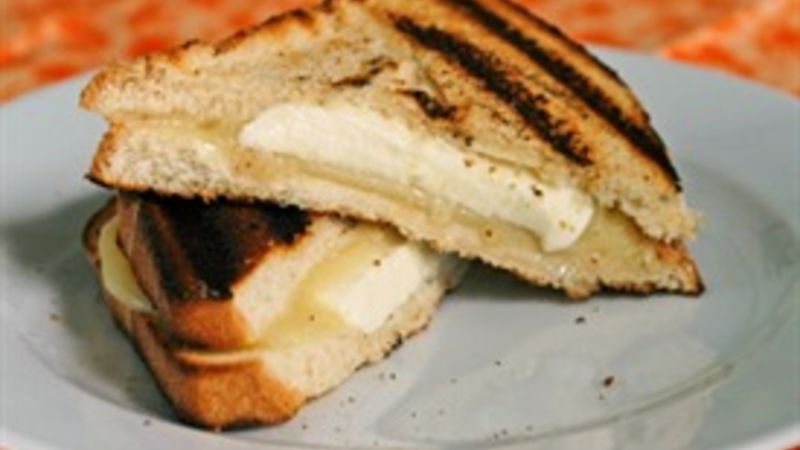 Grilled Three Cheese Grilled Cheese