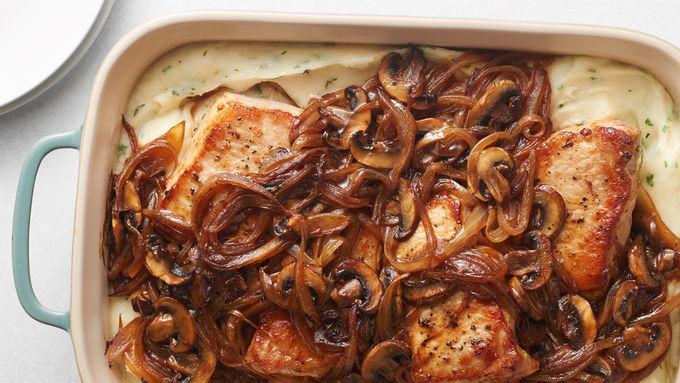 Smothered Pork Chop Casserole