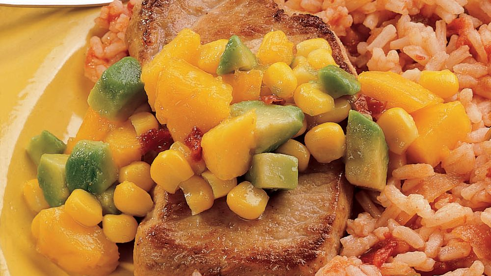 Pork Chop Skillet and Confetti Salsa