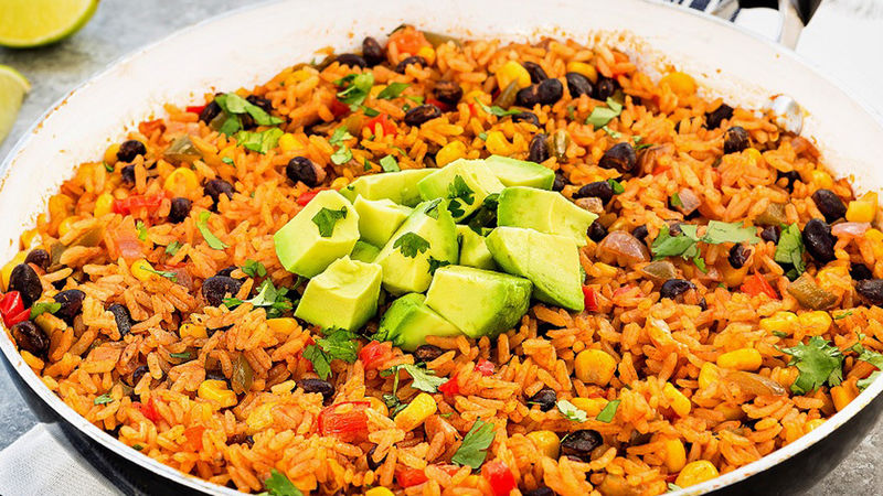 Mexican Style Brown Rice With Avocado Recipe Tablespoon Com