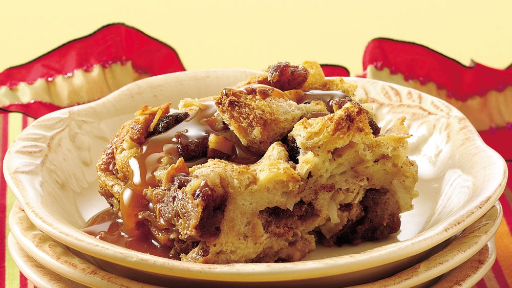 Mocha Bread Pudding with Caramel Topping