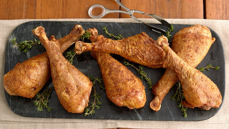 Cajun Deep-Fried Turkey Legs Recipe - Pillsbury.com