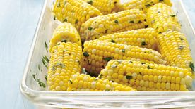 Oven-Steamed Herbed Corn