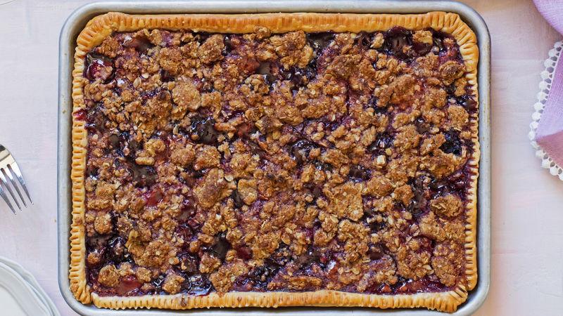 Cherry Streusel Slab Pie
