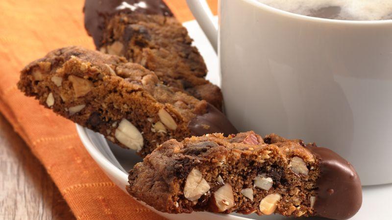 Nutty Chocolate Chip Biscotti