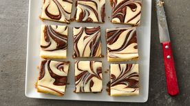Nutella™ Swirled Cheesecake Bars