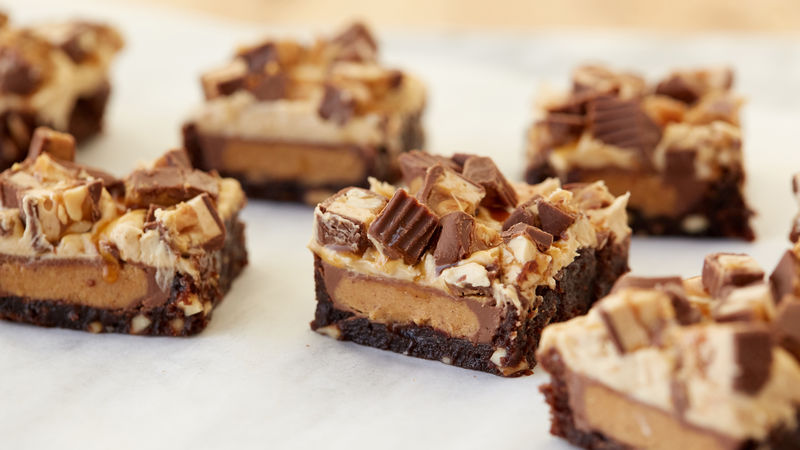 Peanut Butter Cup Snickers™ Brownies