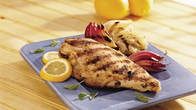 Grilled Lemon Chicken with Fennel and Onion