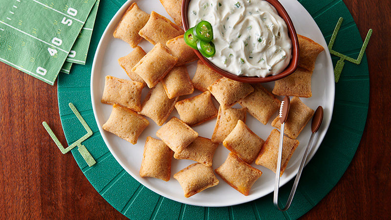 Jalapeno Popper Party Dip & Pizza Rolls