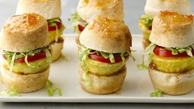BLT Quiche Sticky Bun Sliders