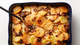 Sweet Potato and Caramelized Onion Gratin