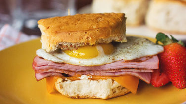 Eggs Benedict Breakfast Sandwiches