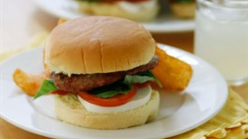 Caprese Turkey Burger