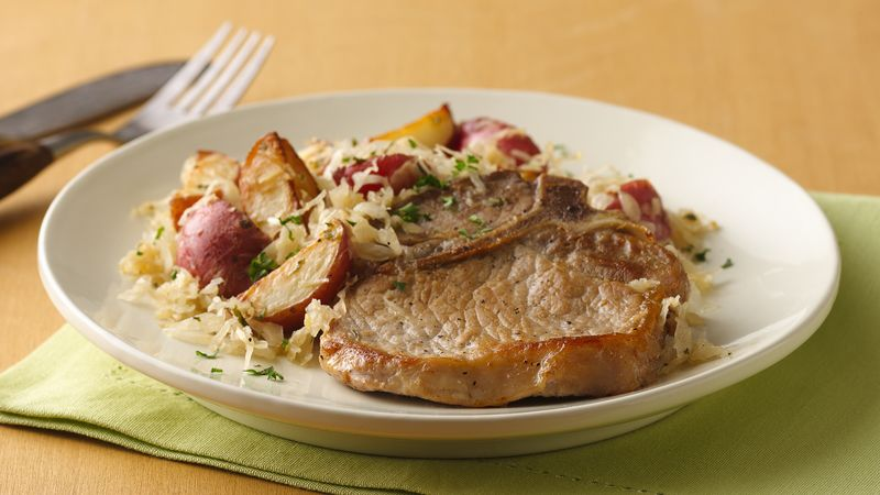 Pork Chops with Sauerkraut