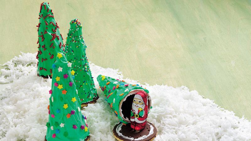 secret santa trees - Santa Trees