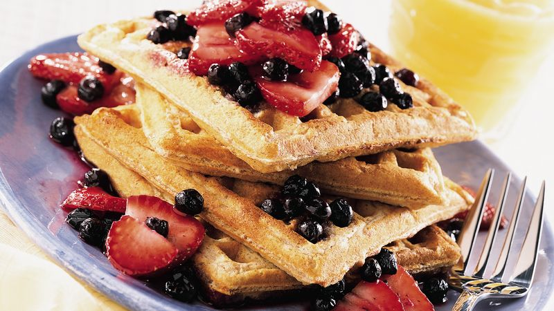 Fruit-Topped Whole Grain Waffles