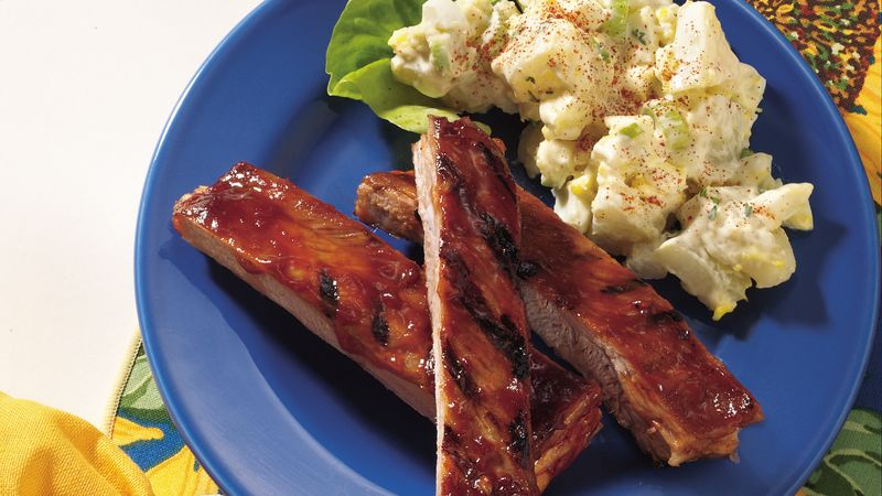 Jiffy Barbecued Ribs